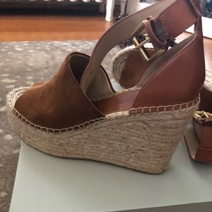 Marc Fisher Adalyn Suede Wedges, size 8.5